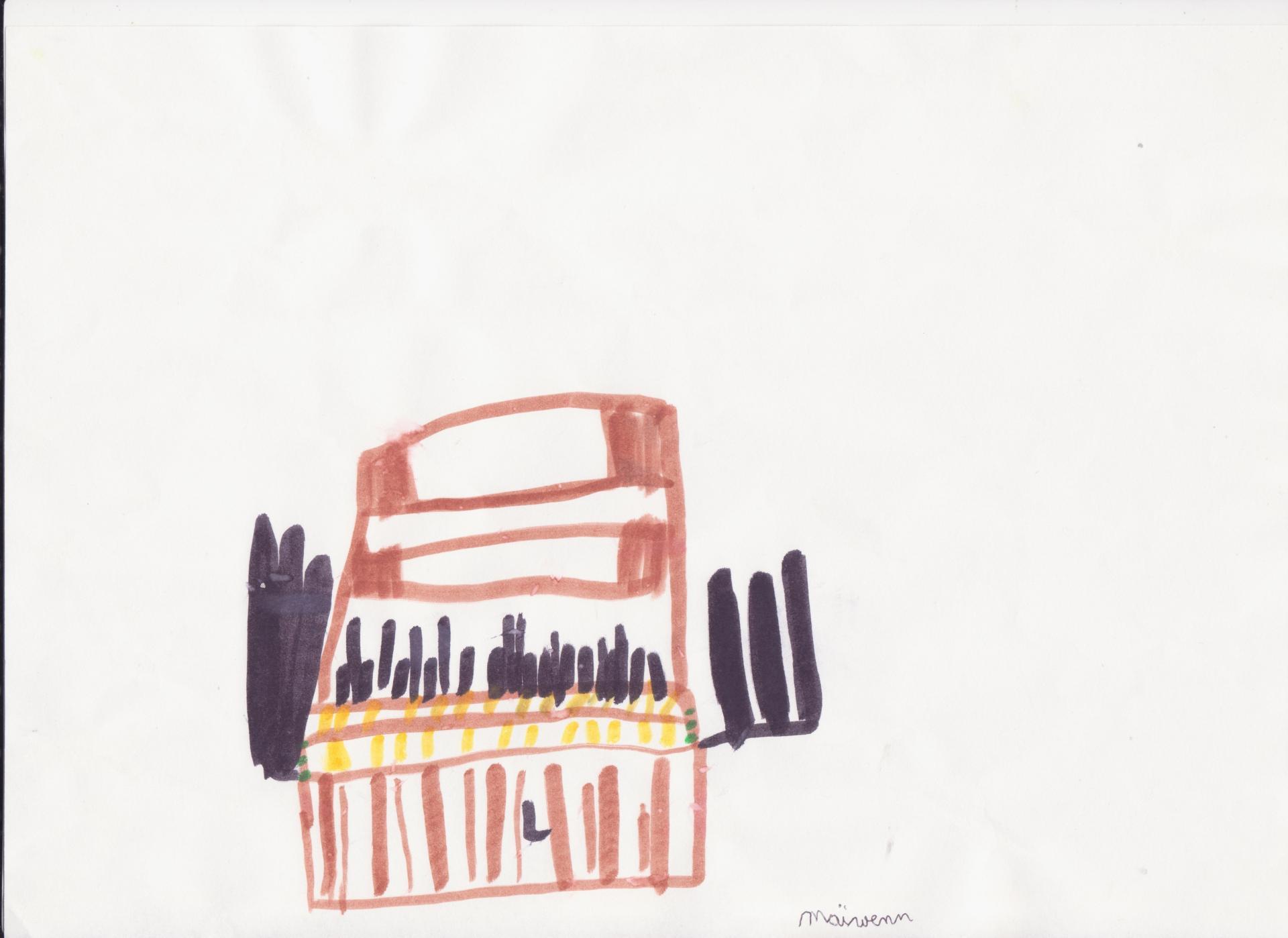 Dessin enfant orgue 002